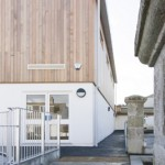 Portrait Newquay School Hall Entrance