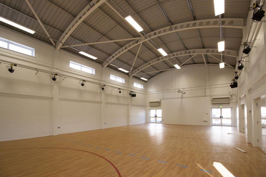 Inside Newquay School Hall