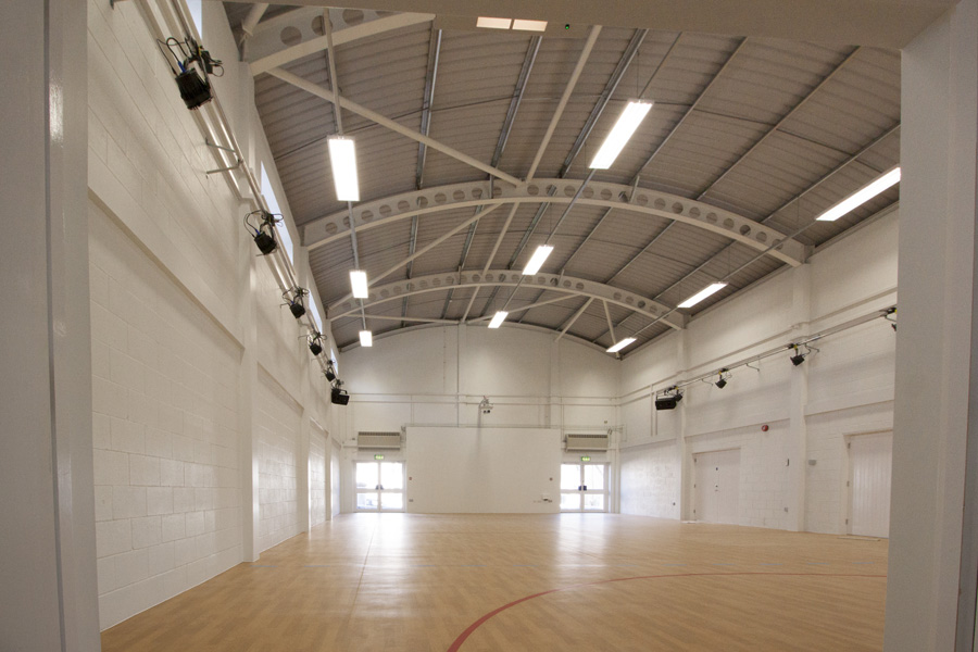 Inside of Newquay School Hall